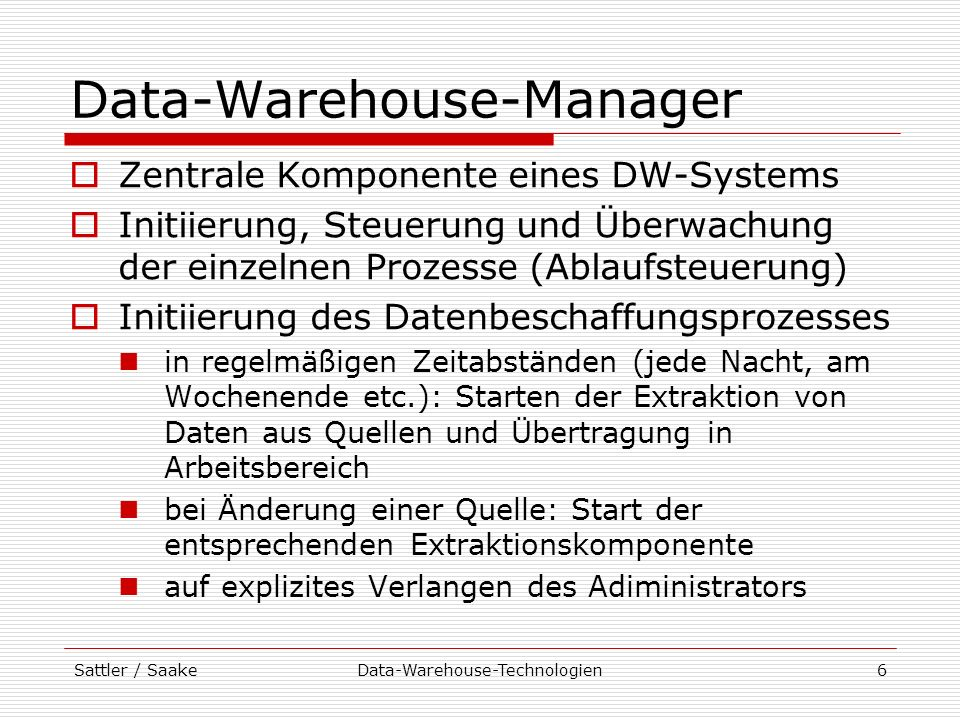 Data-Warehouse-Manager