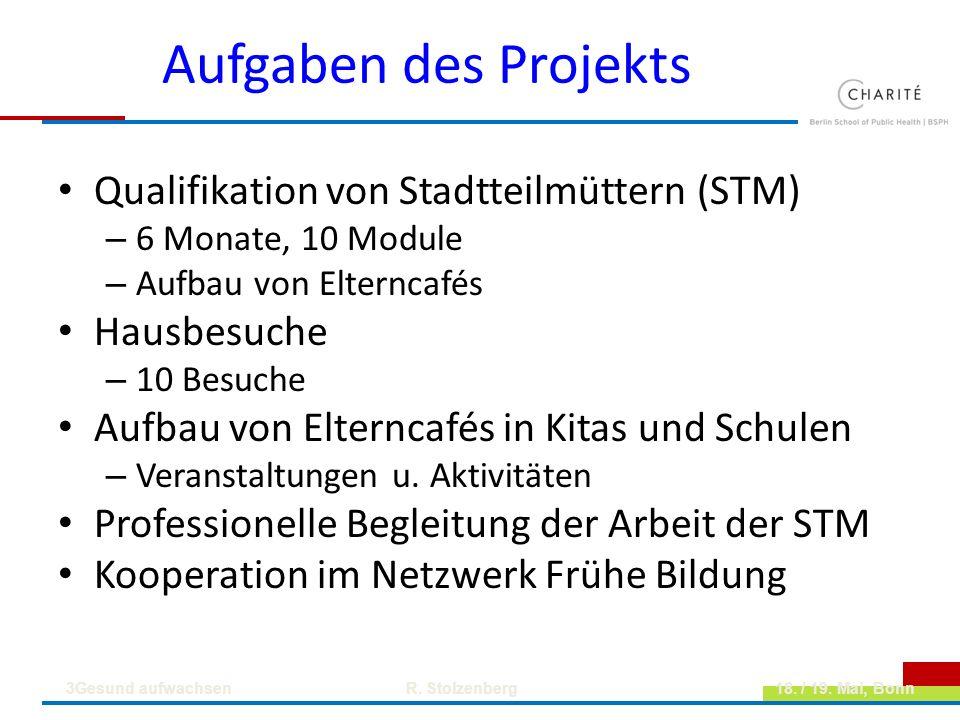 Aufgaben des Projekts Qualifikation von Stadtteilmüttern (STM)
