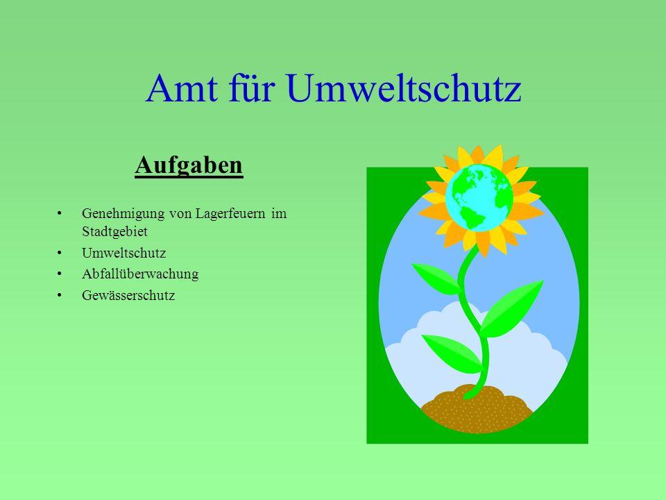 Amt für Umweltschutz Aufgaben