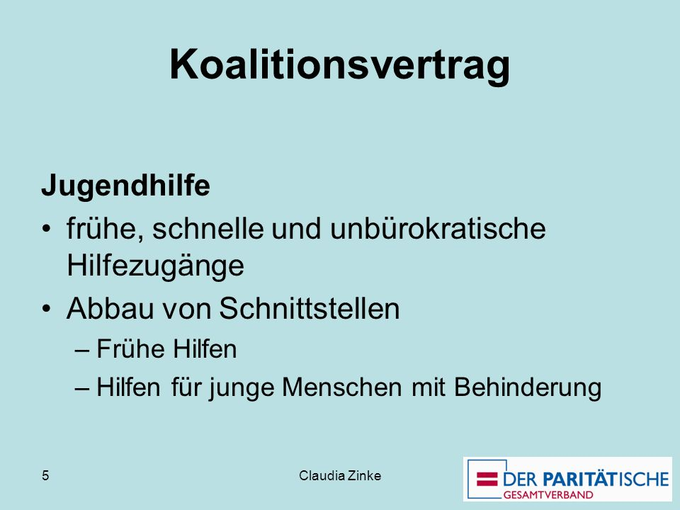 Koalitionsvertrag Jugendhilfe