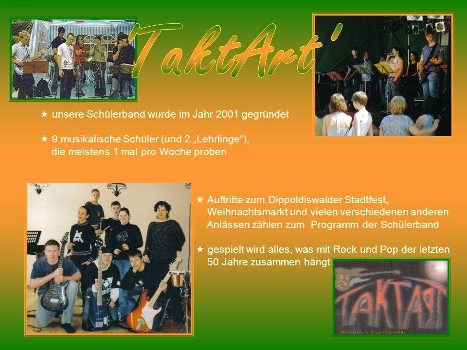 TaktArt unsere Schülerband wurde im Jahr 2001 gegründet