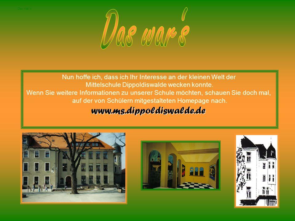 Das war's www.ms.dippoldiswalde.de