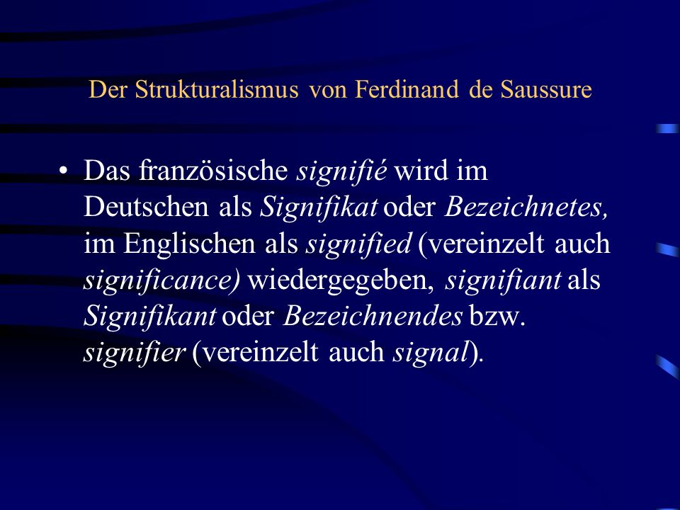 Der Strukturalismus von Ferdinand de Saussure