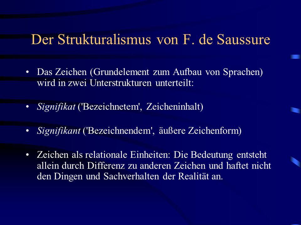 Der Strukturalismus von F. de Saussure