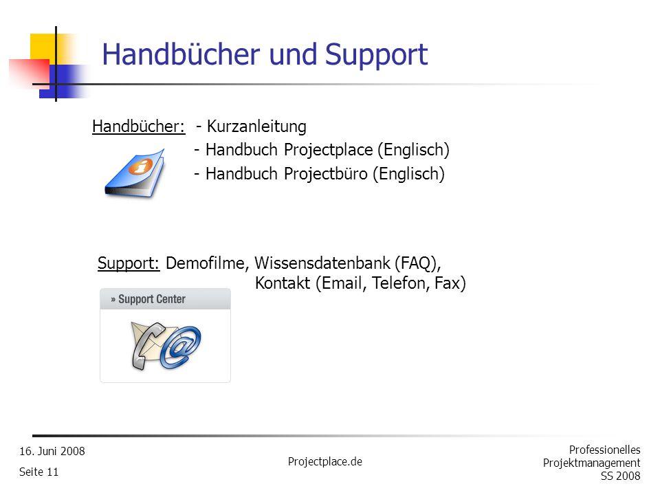 Handbücher und Support