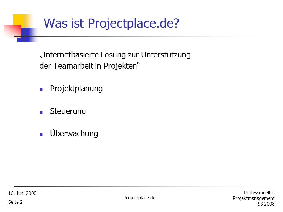 Was ist Projectplace.de