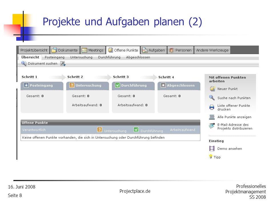 Projekte und Aufgaben planen (2)