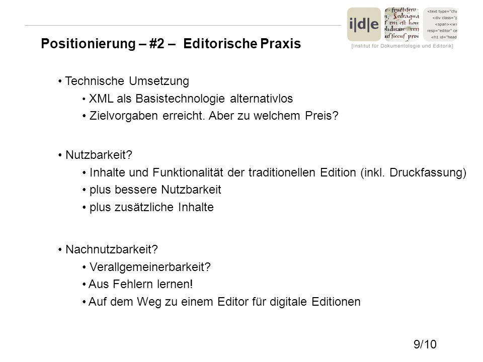 Positionierung – #2 – Editorische Praxis