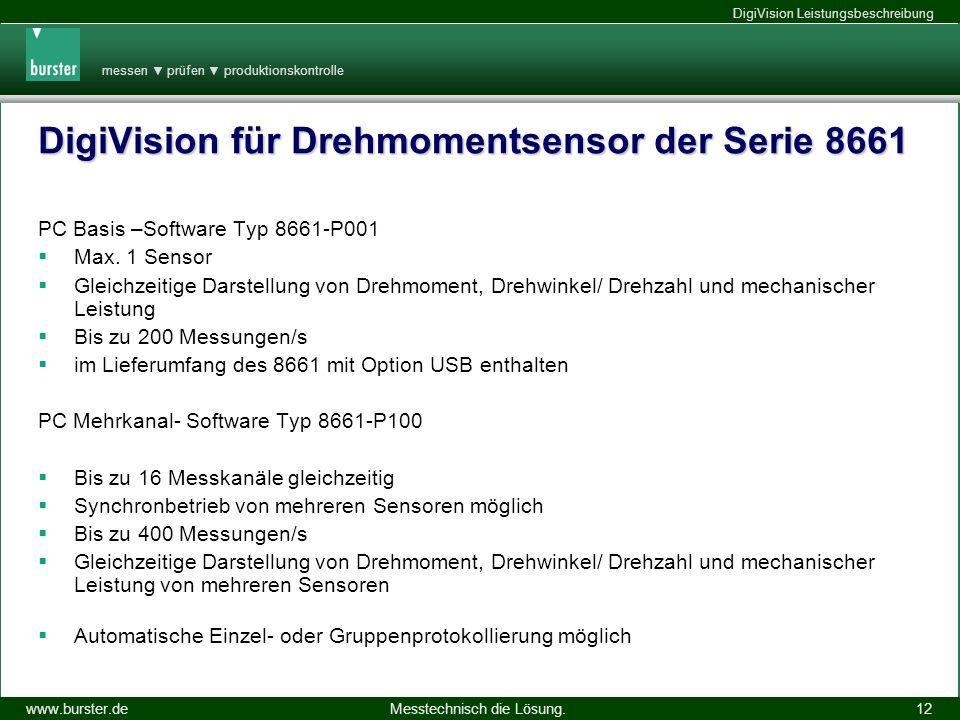 DigiVision für Drehmomentsensor der Serie 8661