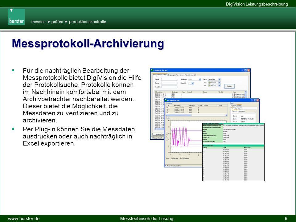 Messprotokoll-Archivierung