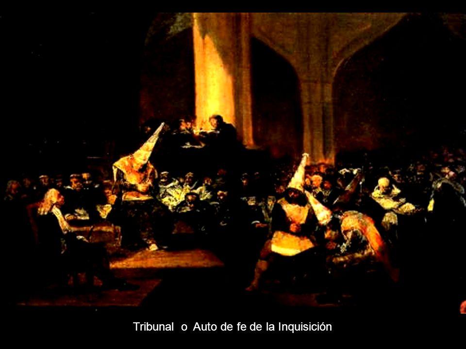 Ferdinands VII Tribunal o Auto de fe de la Inquisición