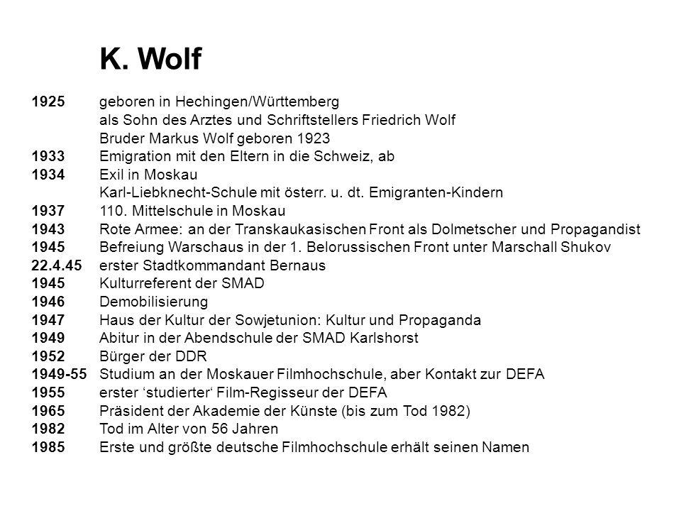 K. Wolf 1925 geboren in Hechingen/Württemberg