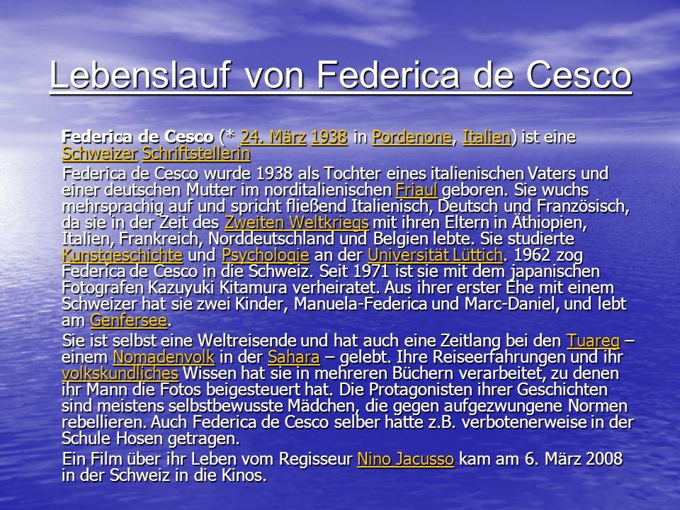Lebenslauf von Federica de Cesco