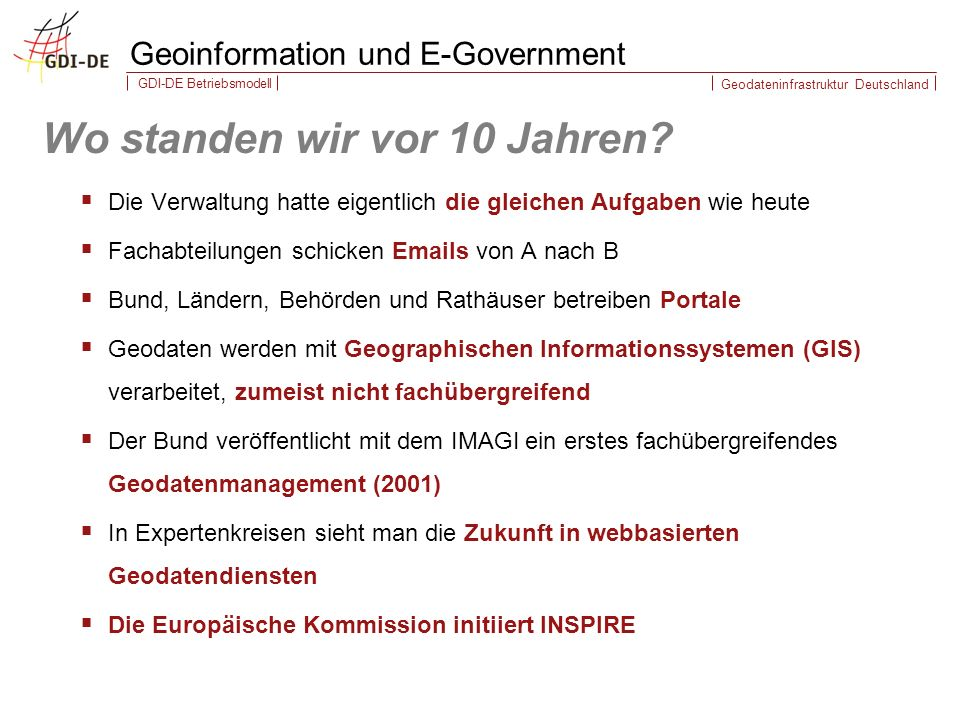 Geoinformation und E-Government