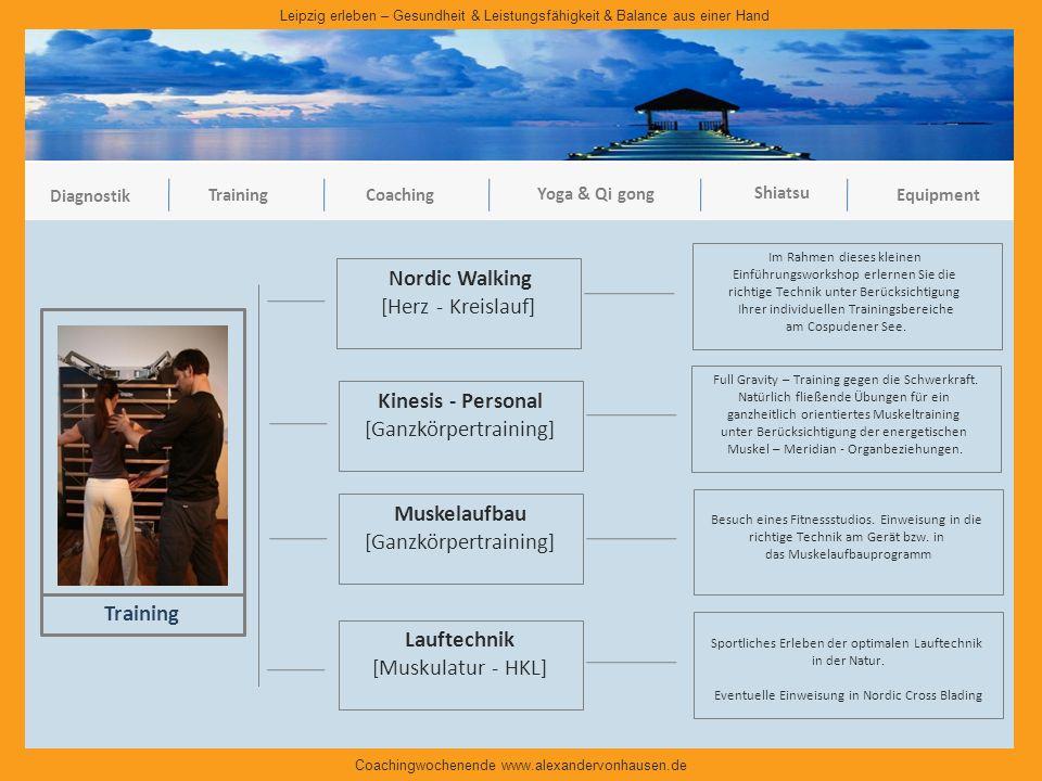 Nordic Walking Kinesis - Personal Muskelaufbau Training Lauftechnik