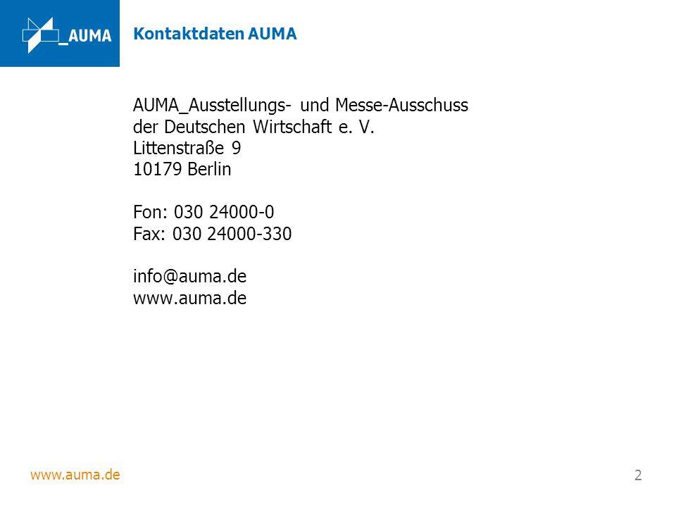 AUMA_Ausstellungs- und Messe-Ausschuss der Deutschen Wirtschaft e. V.