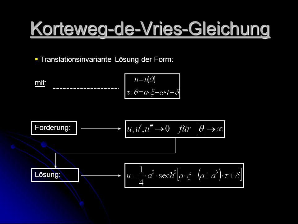 Korteweg-de-Vries-Gleichung
