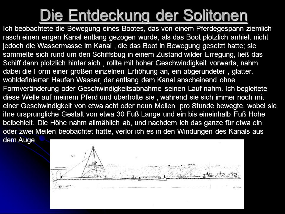 Die Entdeckung der Solitonen