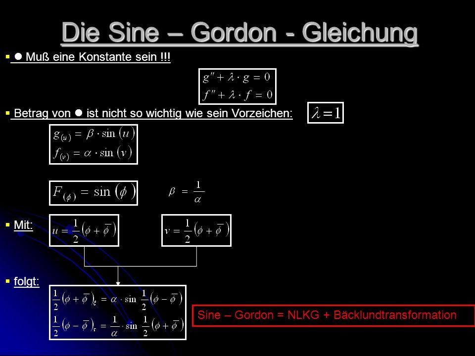 Die Sine – Gordon - Gleichung