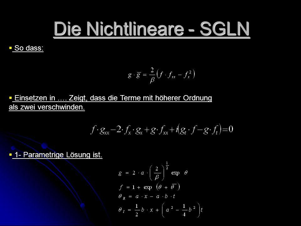 Die Nichtlineare - SGLN