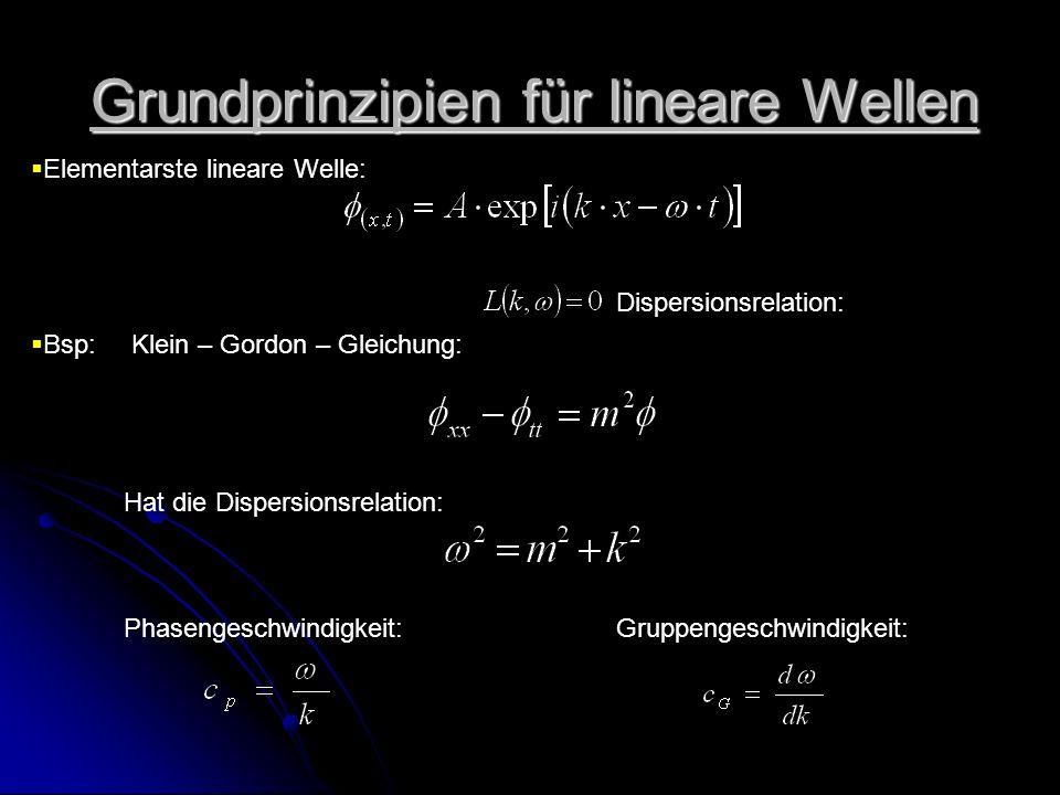 Grundprinzipien für lineare Wellen
