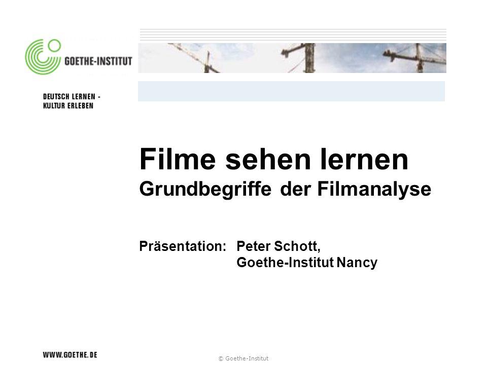 Filme sehen lernen Grundbegriffe der Filmanalyse