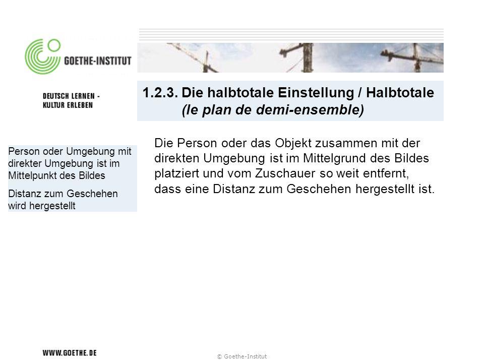 1.2.3. Die halbtotale Einstellung / Halbtotale (le plan de demi-ensemble)