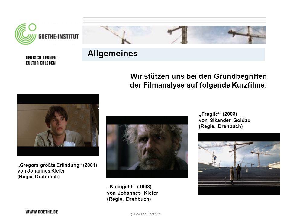 """Allgemeines Wir stützen uns bei den Grundbegriffen der Filmanalyse auf folgende Kurzfilme: """"Fragile (2003) von Sikander Goldau (Regie, Drehbuch)"""
