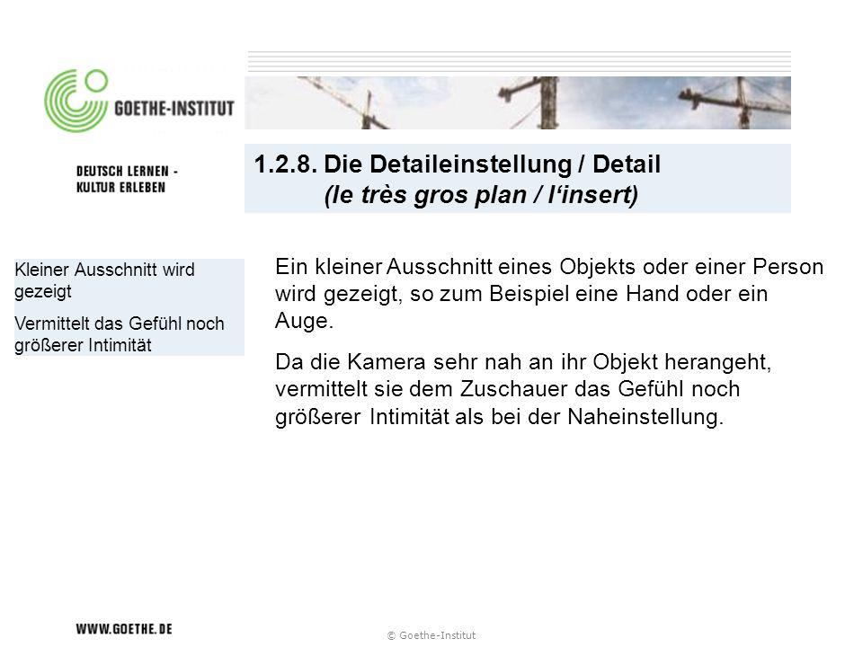 1.2.8. Die Detaileinstellung / Detail (le très gros plan / l'insert)