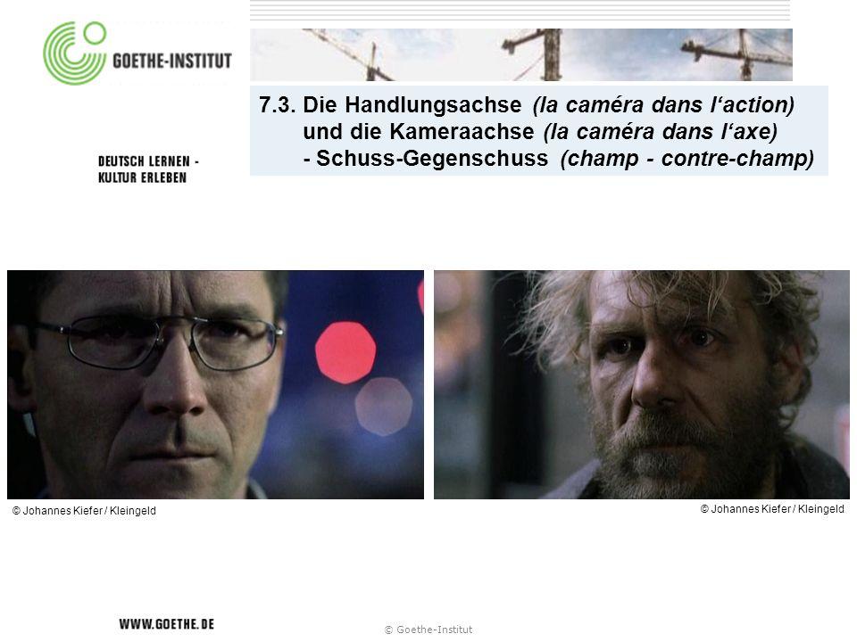 7.3. Die Handlungsachse (la caméra dans l'action) und die Kameraachse (la caméra dans l'axe) - Schuss-Gegenschuss (champ - contre-champ)