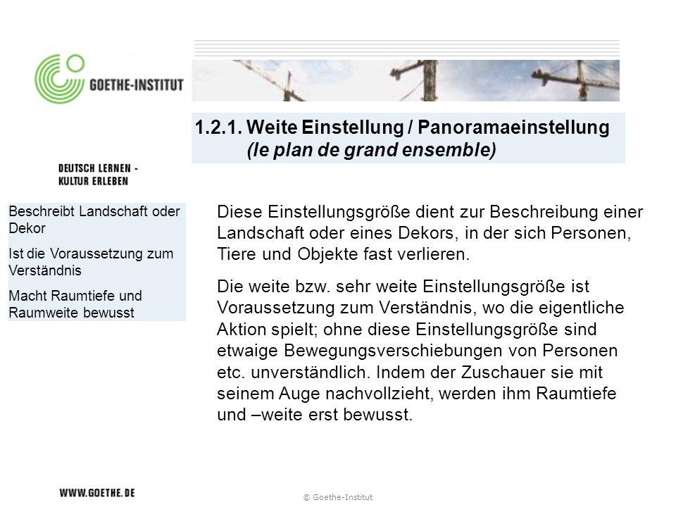 1.2.1. Weite Einstellung / Panoramaeinstellung (le plan de grand ensemble)