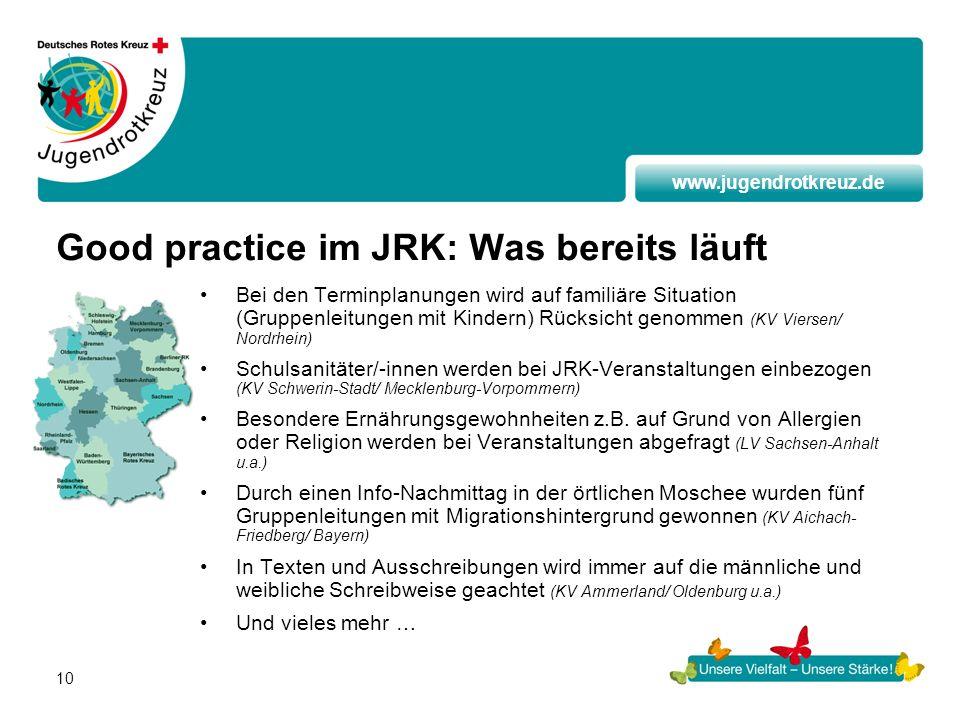Good practice im JRK: Was bereits läuft