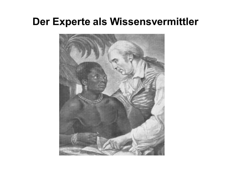 Der Experte als Wissensvermittler