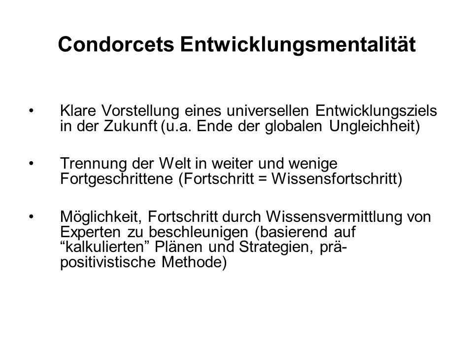 Condorcets Entwicklungsmentalität