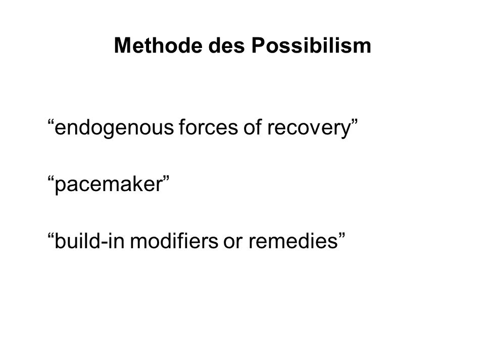 Methode des Possibilism