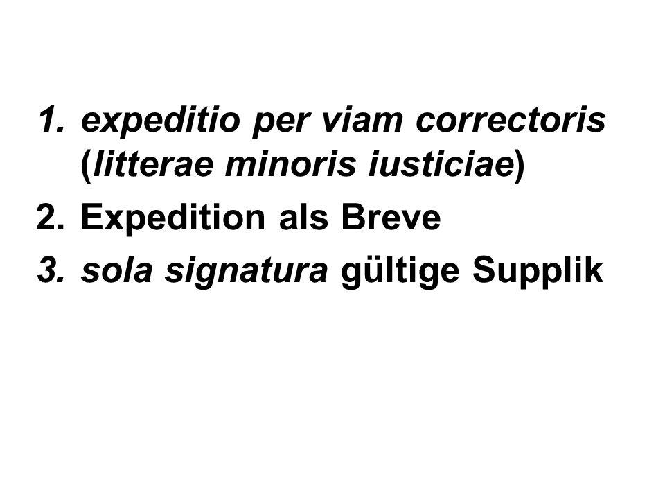 expeditio per viam correctoris (litterae minoris iusticiae)