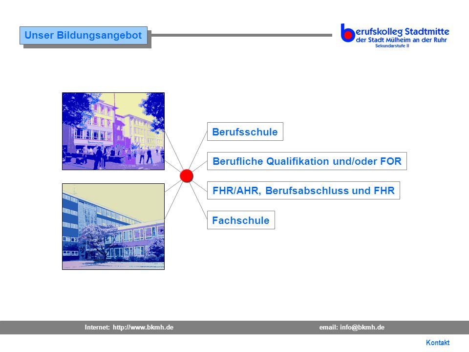 Berufliche Qualifikation und/oder FOR FHR/AHR, Berufsabschluss und FHR