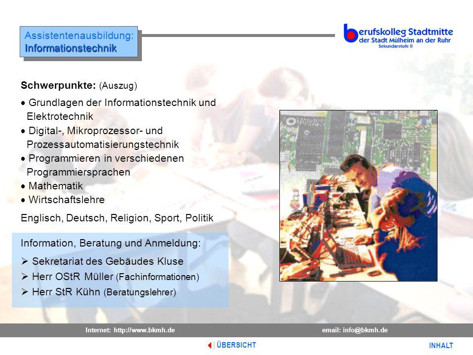 Assistentenausbildung: Informationstechnik