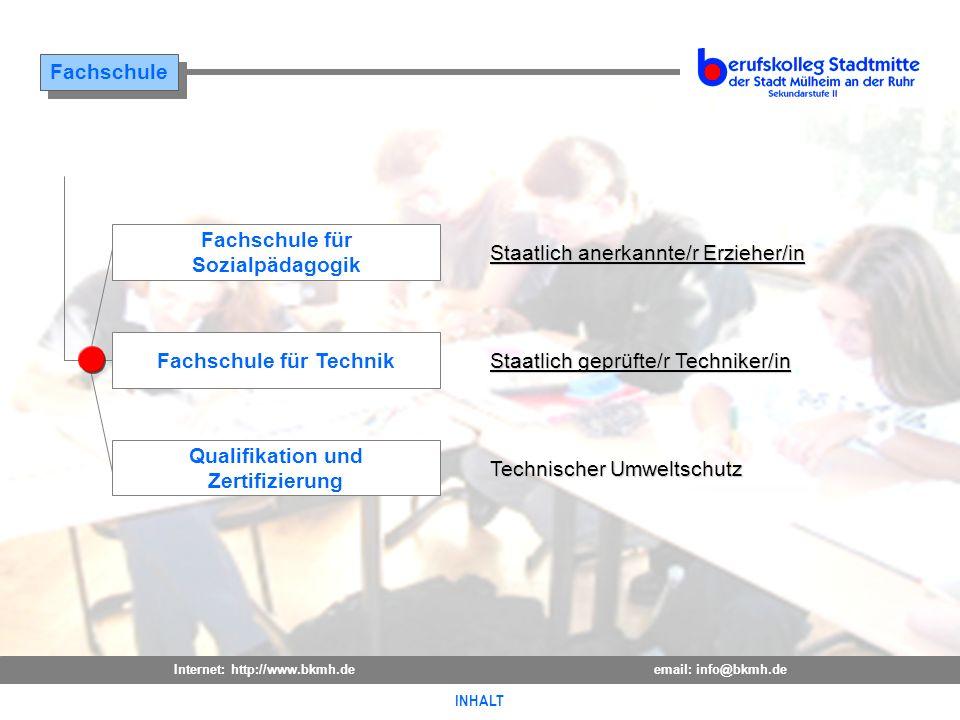 Staatlich anerkannte/r Erzieher/in Fachschule für Sozialpädagogik