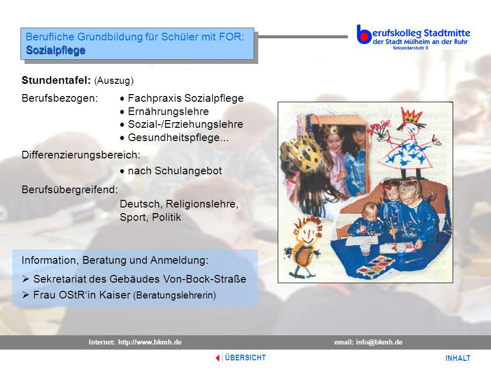 Berufliche Grundbildung für Schüler mit FOR: Sozialpflege