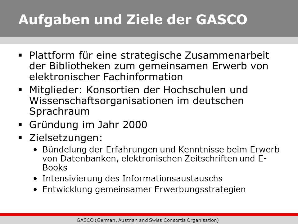 Aufgaben und Ziele der GASCO