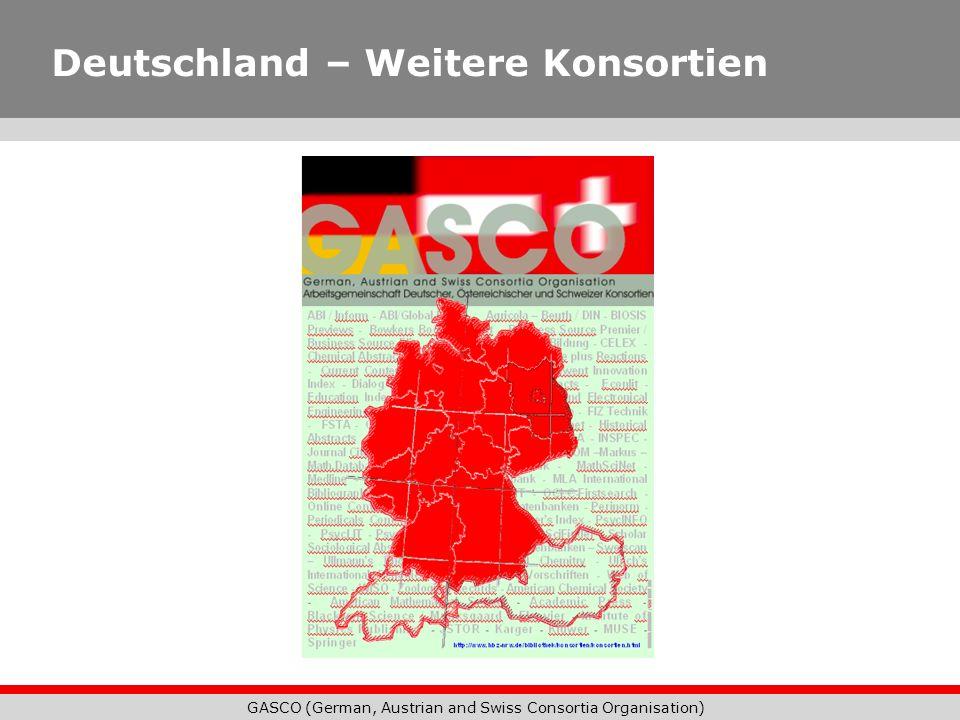 Deutschland – Weitere Konsortien
