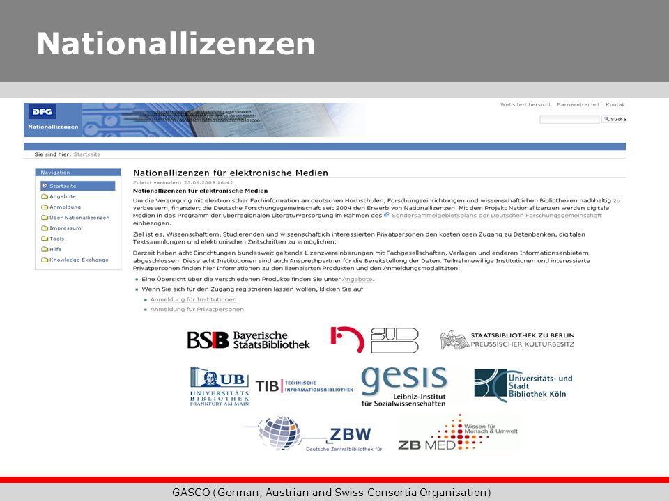GASCO (German, Austrian and Swiss Consortia Organisation)