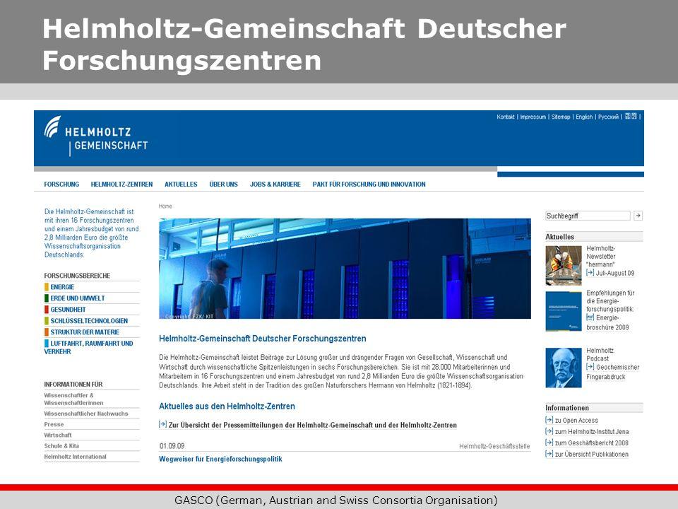 Helmholtz-Gemeinschaft Deutscher Forschungszentren
