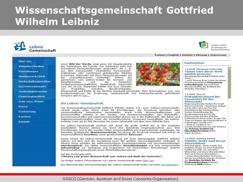 Wissenschaftsgemeinschaft Gottfried Wilhelm Leibniz