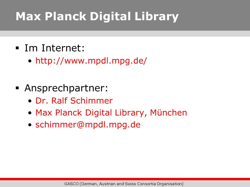 Max Planck Digital Library