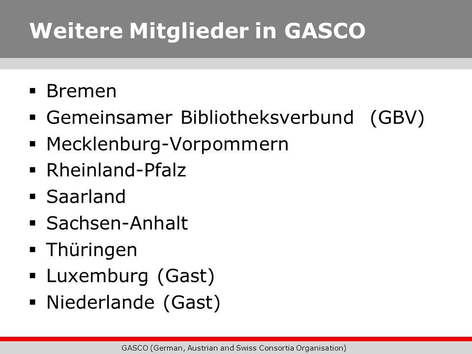 Weitere Mitglieder in GASCO