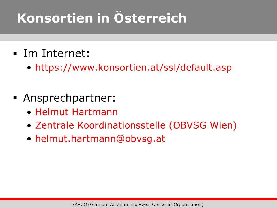Konsortien in Österreich