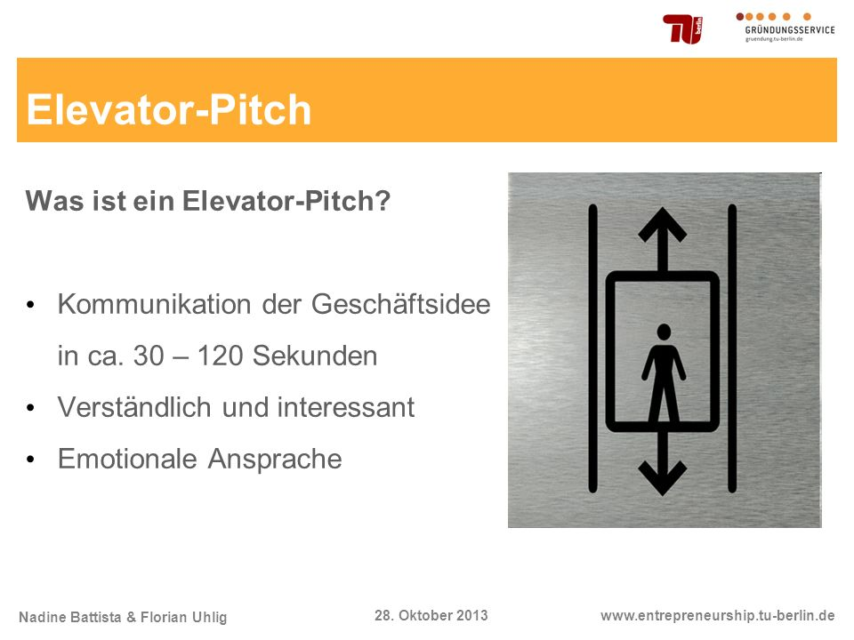 Elevator-Pitch Was ist ein Elevator-Pitch