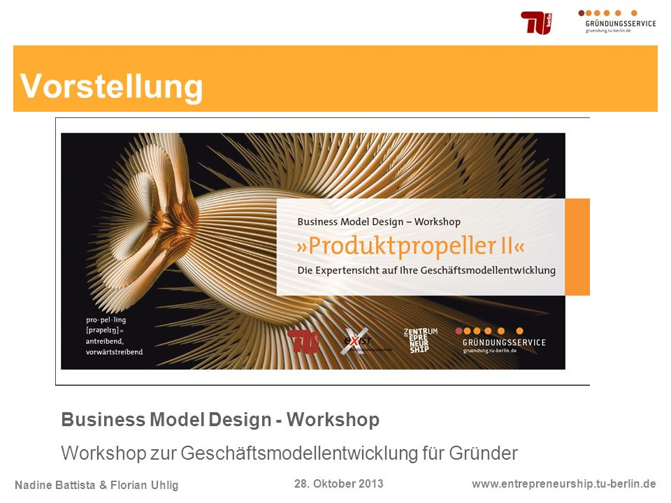 Vorstellung Business Model Design - Workshop